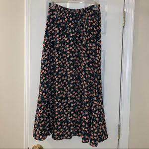 Vintage Studio Floral Midi Skirt